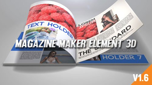 Magazine Maker Element 3D - Project for After Effects (Videohive)