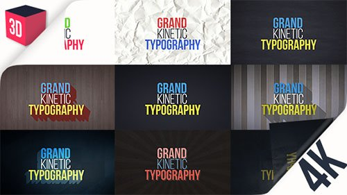 Grand Kinetic Typography - Project for After Effects (Videohive)