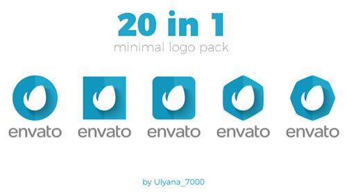 Minimal Logo Pack (20 in 1) - Project for After Effects (Videohive)