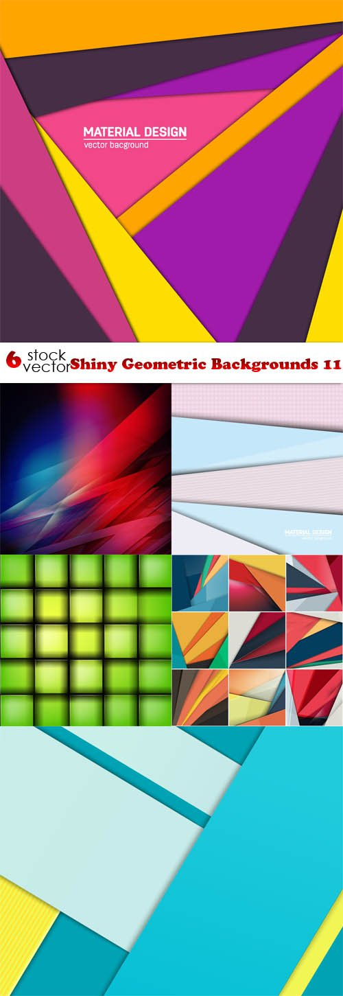 Vectors - Shiny Geometric Backgrounds 11