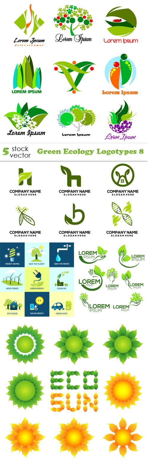 Vectors - Green Ecology Logotypes 8
