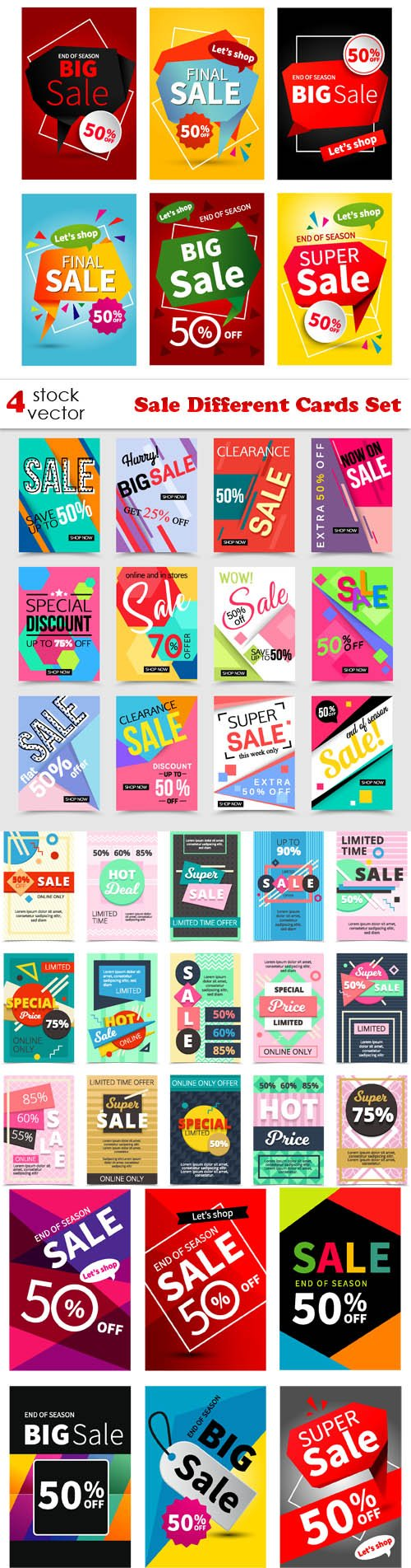 Vectors - Sale Different Cards Set