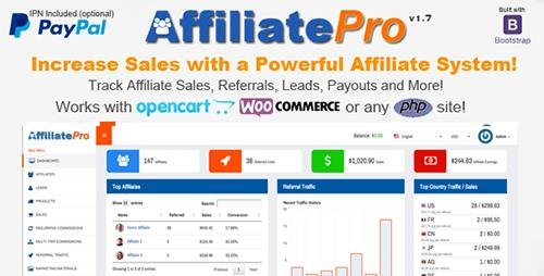 CodeCanyon - Affiliate Pro v1.7.1 - Affiliate Management System - 12908496