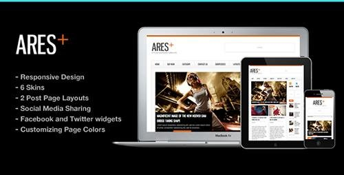 ThemeForest - Ares v2.5 - Blog Magazine Newspaper Template - 918661