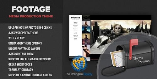 ThemeForest - Footage v1.2 - A Photo & Video Production Theme - 759170