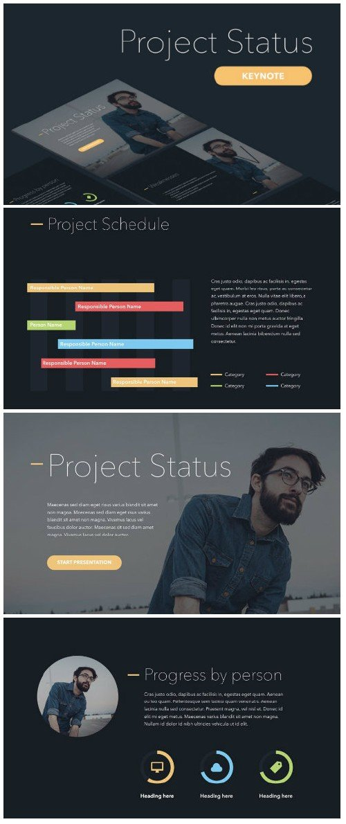 Project Status Keynote Template