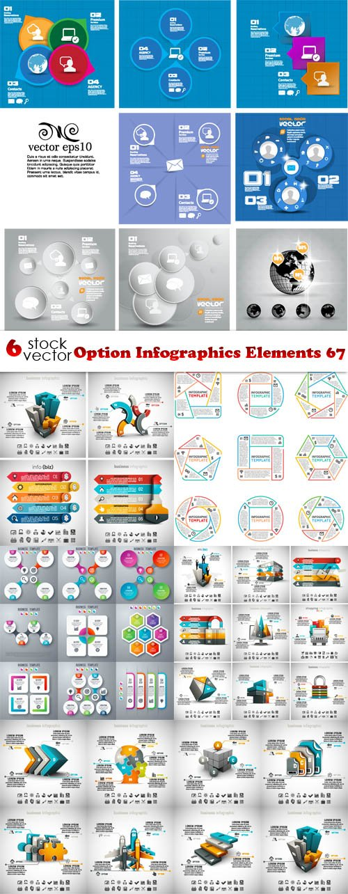 Vectors - Option Infographics Elements 67