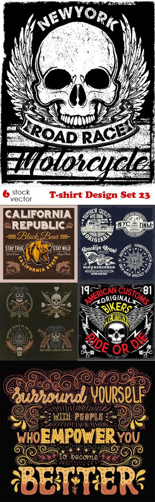 Vectors - T-shirt Design Set 23