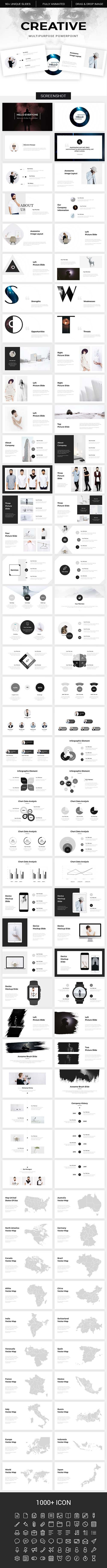 Creative - Multipurpose Powerpoint Template 19923974