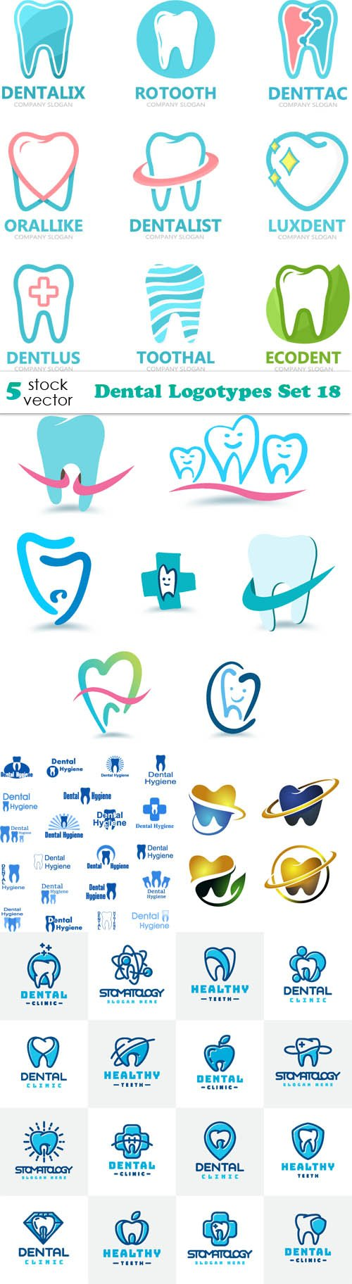 Vectors - Dental Logotypes Set 18