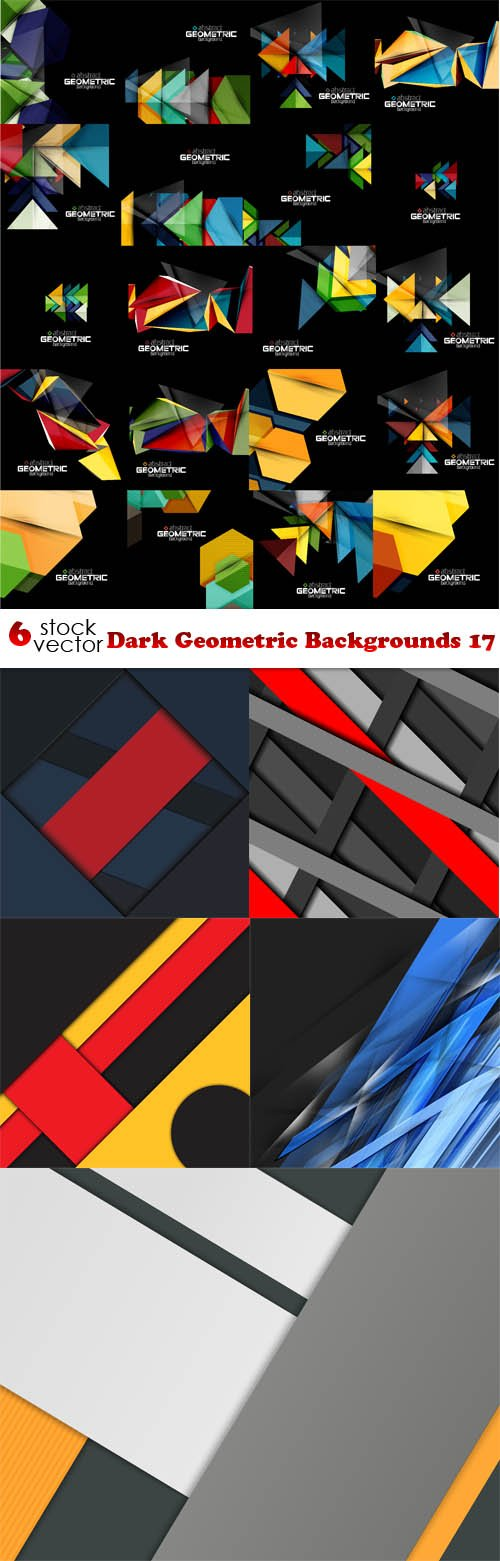 Vectors - Dark Geometric Backgrounds 17
