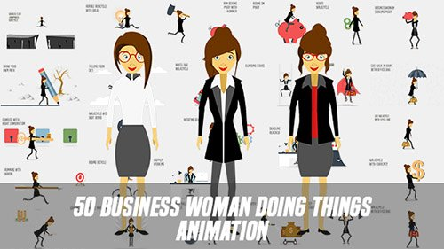 Business Woman Doing Things Animation - Project for After Effects (Videohive)