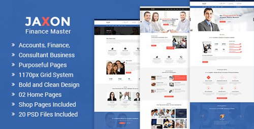 Jaxon - Accounts, Finance and Consulting Business PSD Template 19762901