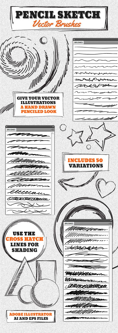 Vector Pencil Sketch Brushes 4630510