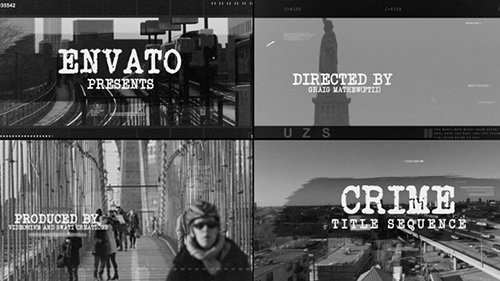 Crime Title Sequence - Project for After Effects (Videohive)