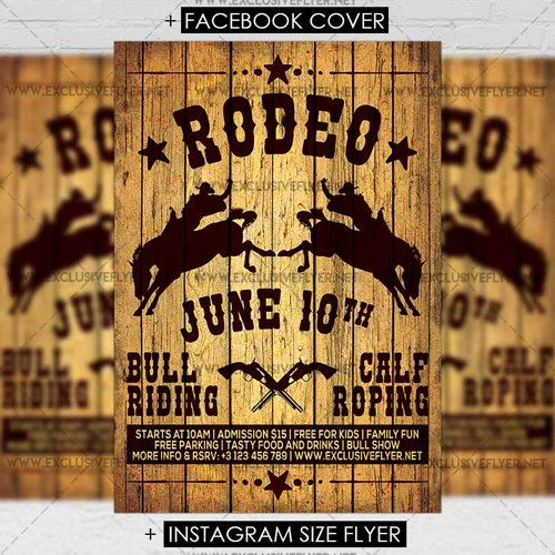 Premium A5 Flyer Template - Rodeo