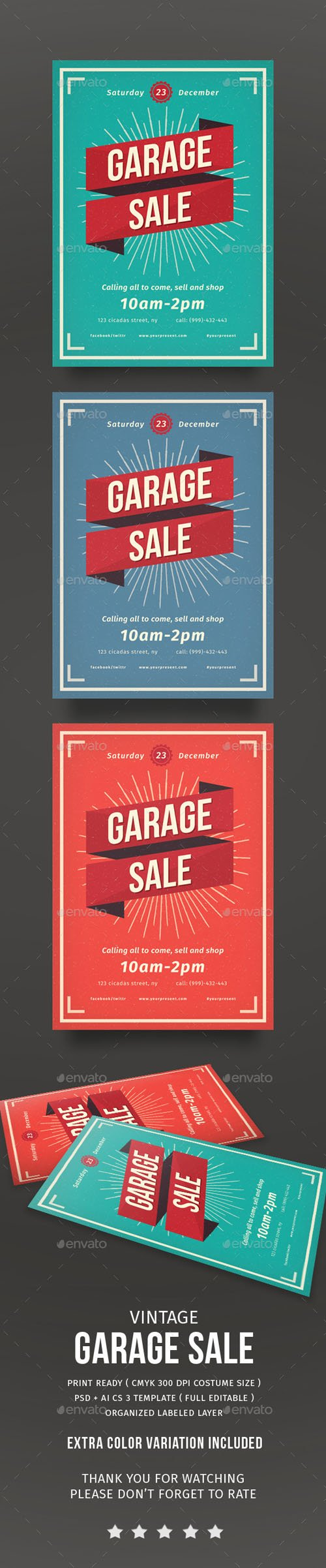 Vintage Garage Sale flayer 14118689