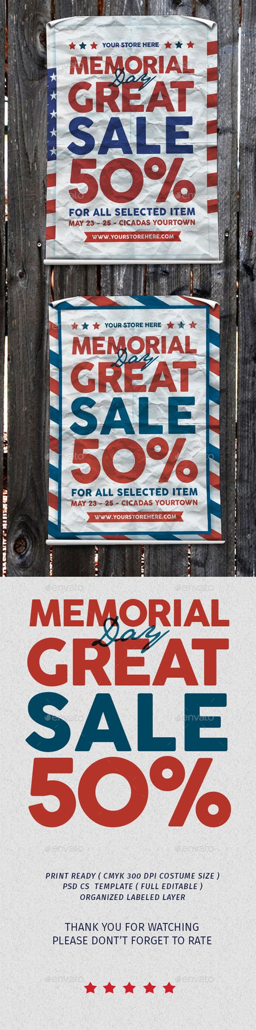 Memorial Great sale 19982259