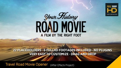 Travel Road Movie - Project for After Effects (Videohive)