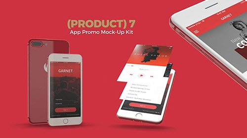 (Product) 7 App Promo Mock-Up Kit - Project for After Effects (Videohive)