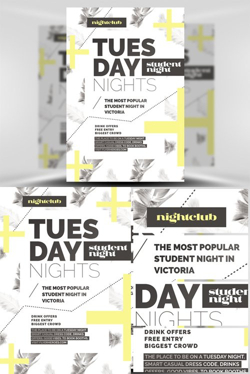 Tuesday Night Flyer Template - Feather Series