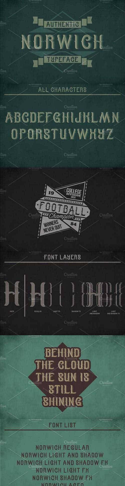 Norwich Label Typeface 1448356