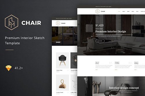 Chair - Interior Sketch Template - CM 1262716
