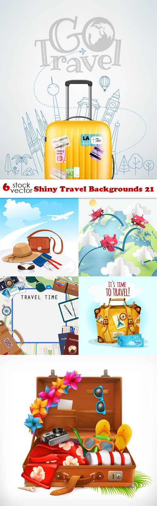 Vectors - Shiny Travel Backgrounds 21