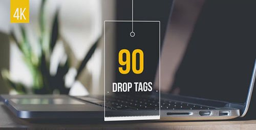90 Drop Tags - Project for After Effects (Videohive)