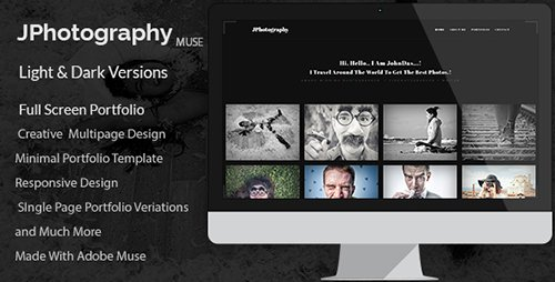 ThemeForest - JPhotography v1.0 - Minimal Photography Portfolio Muse Template - 19460384