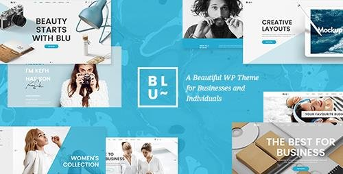 ThemeForest - Blu v1.2 - A Beautiful Theme for Businesses and Individuals - 18217358
