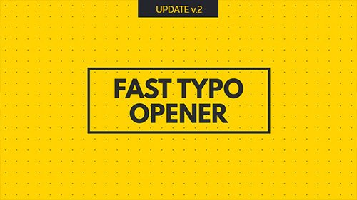 Fast Typo Opener 19594569 - Project for After Effects (Videohive)