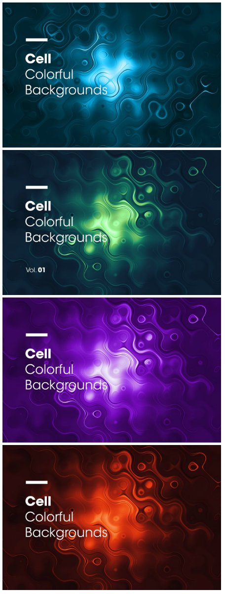 Cell Colorful Backgrounds Vol.01