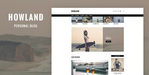 ThemeForest - Howland v1.0 - Personal Blog PSD Template - 19563003