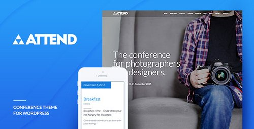 ThemeForest - Conference & Event WordPress Theme - Attend v1.0.4 - 10089289