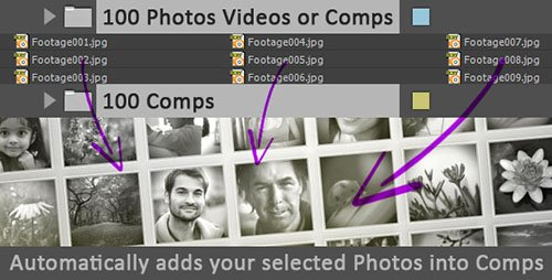 Photos Videos Comps To Comps - After Effects Scripts (Videohive)