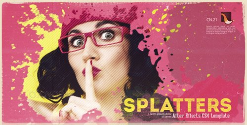 Splatter Promo - Project for After Effects (Videohive)