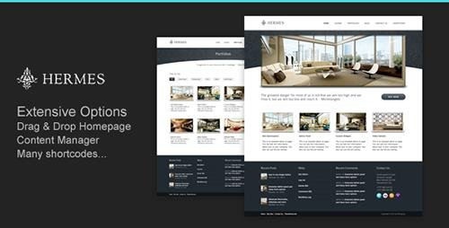 ThemeForest - Hermes v2.0 - Business Corporate Resort and Hotel WordPress Theme - 272347