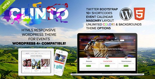 ThemeForest - Clinto v1.3 - HTML5 Responsive WordPress Theme for Events - 3945447