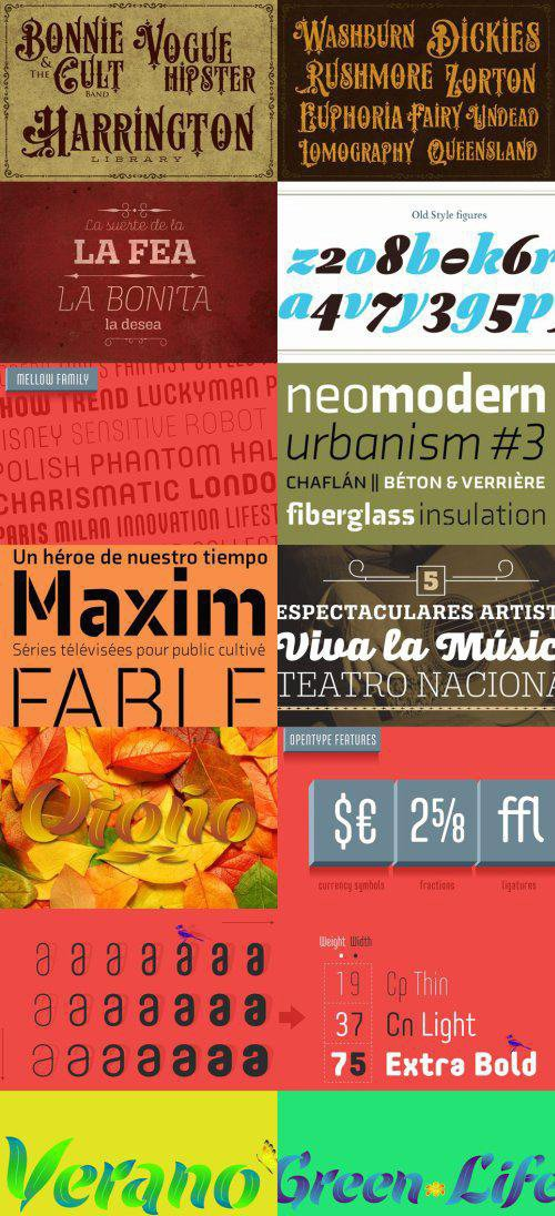 11 Fonts Bundle Collection