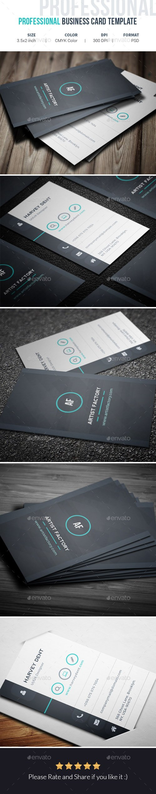 GR - Professional Business Card Template 19975465