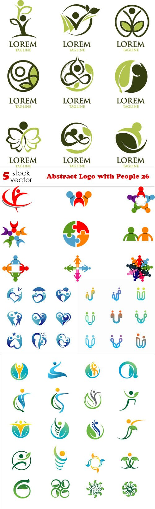 Vectors - Abstract Logo with People 26
