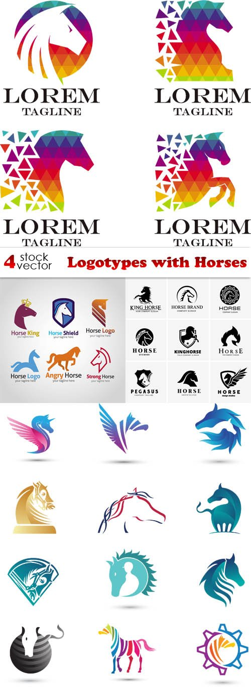 Vectors - Logotypes with Horses