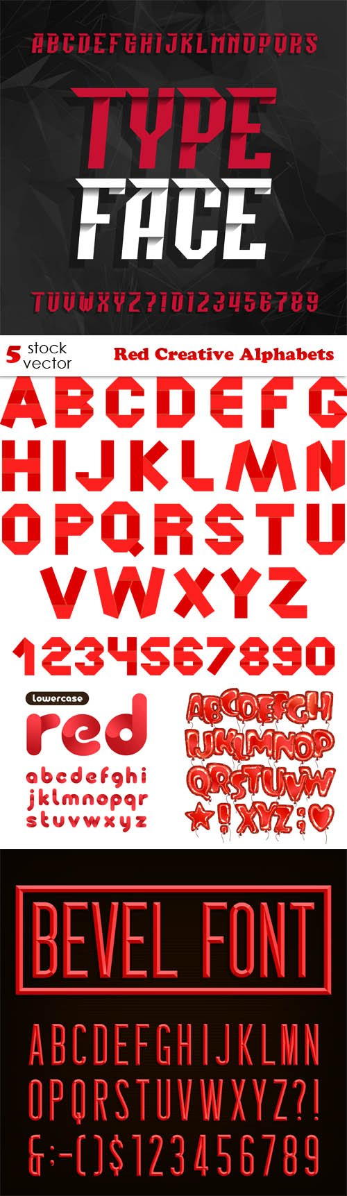 Vectors - Red Creative Alphabets