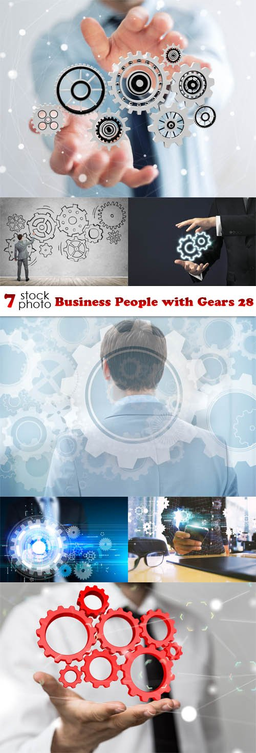 Photos - Business People with Gears 28
