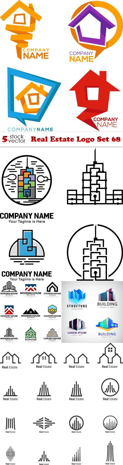 Vectors - Real Estate Logo Set 68