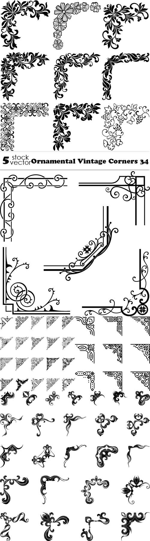 Vectors - Ornamental Vintage Corners 34
