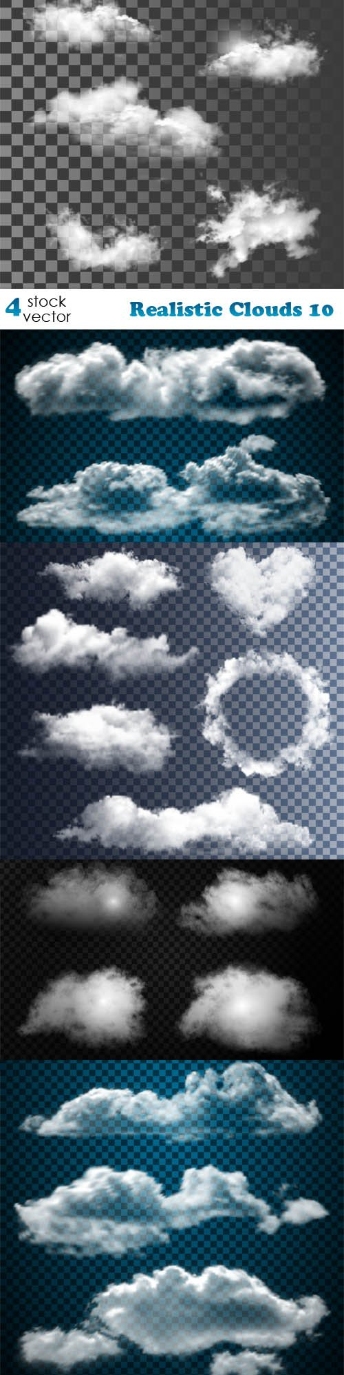 Vectors - Realistic Clouds 10