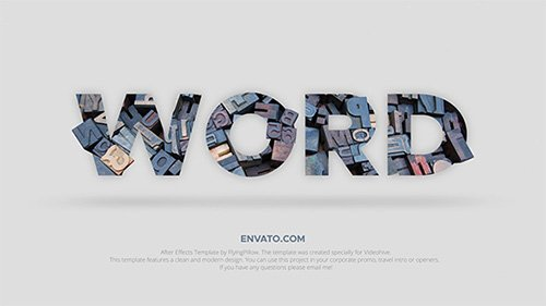 Word - Professional Typography Toolkit - Project for After Effects (Videohive)