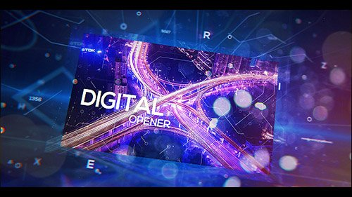 Digital Holographic Opener- Project for After Effects (Videohive)